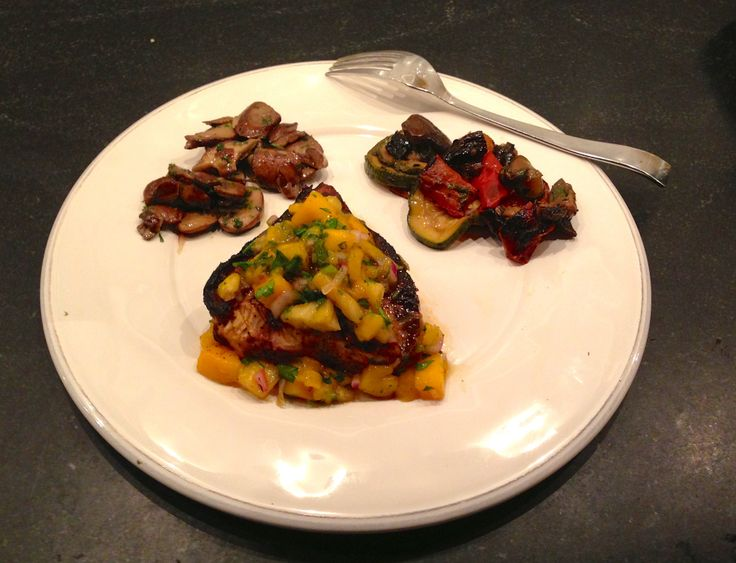 Grilled Swordfish with Pineapple Mango Salsa