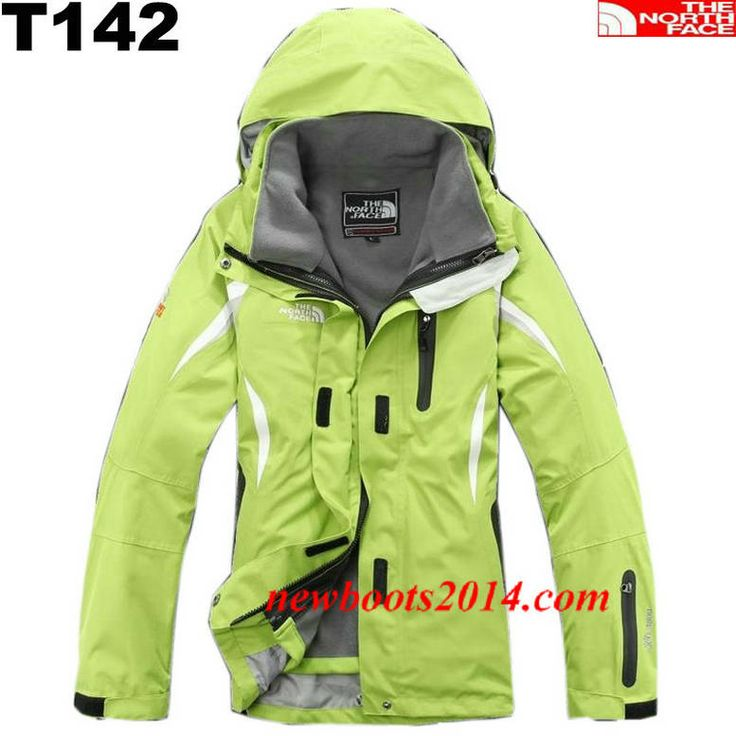 The North Face Womens Windstopper Jacket Yellow Green White #Yellow