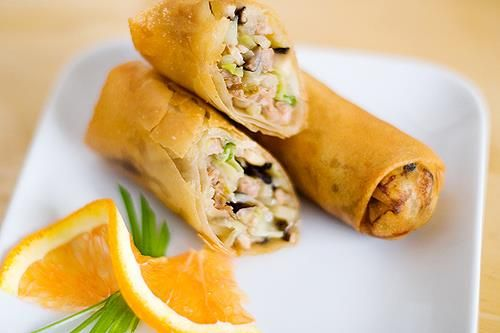 Chinese Pork Egg Rolls | FoodPorn | Savory or Otherwise | Pinterest