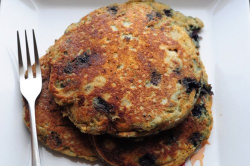 Blueberry Chia Seed Buttermilk Pancakes (Gluten-free)