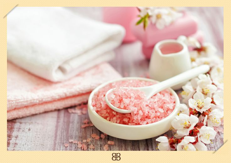 Baño De Tina Con Sal De Mar:Baño de tina con sal rosa, perfecto para revivir #relajacion #rosa #