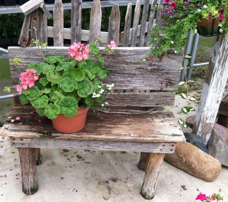 Flower garden bench ideas photograph flower bench for Flower bench ideas