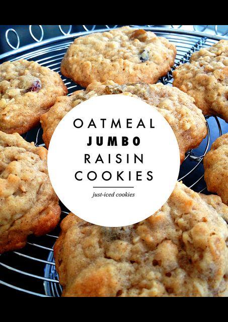 Oatmeal Jumbo Raisin Cookies, made with Trader Joe's Jumbo raisins!