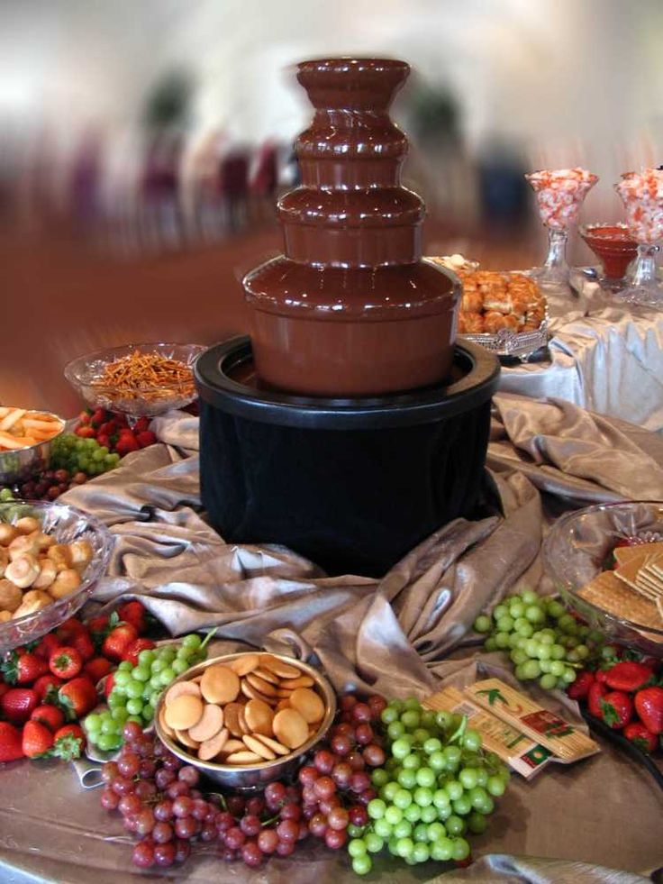 Chocolate Fountain Display | Wedding Party & Photography ...