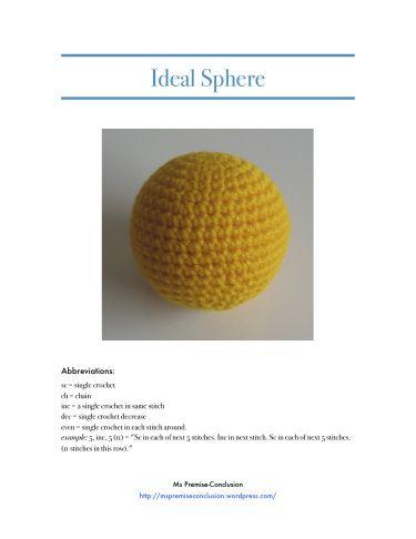 Amigurumi Ideal Sphere : Perfect sphere crochet Egyeb Pinterest