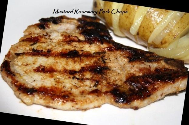 Mustard Rosemary Pork Chops | Get it Grill | Pinterest