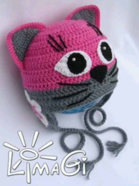 Crochet Pattern Hat Cat : Cat hat crochet Pinterest