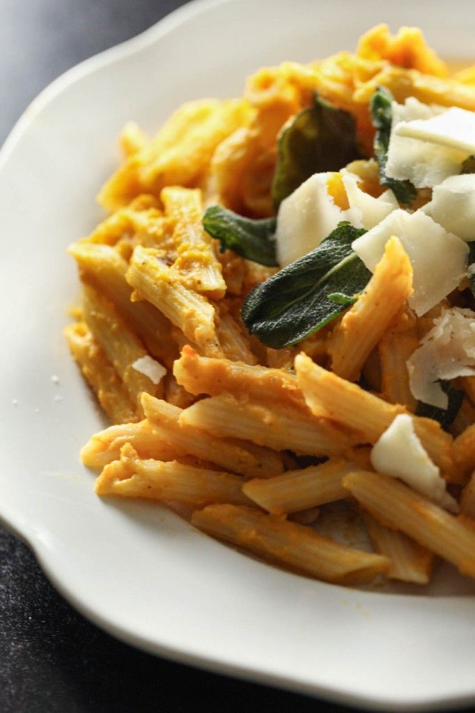 Creamy Pumpkin Pasta With Crispy Sage - Ring Finger Tan Line