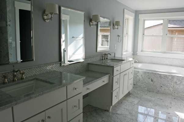 Carrera marble master bathroom sll master suite pinterest for Carrera bathroom ideas