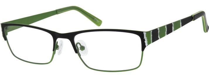 #metal #frame #black #green #eyeglasses my type of style ...