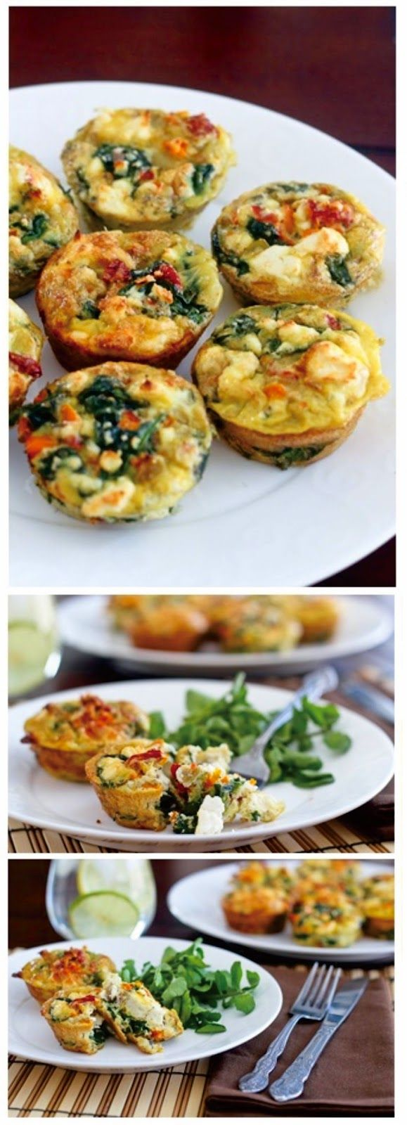 Spinach, Sundried Tomatoes and Feta Frittata Bites | I love mini ...