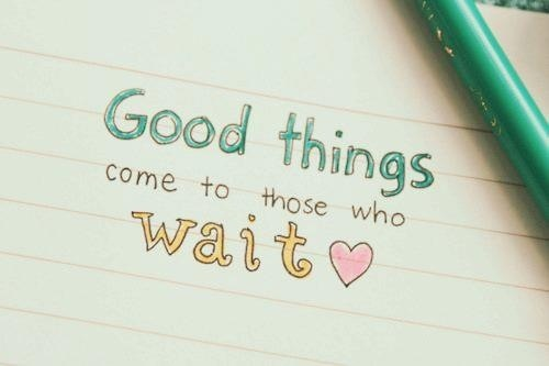 how to patiently wait for love