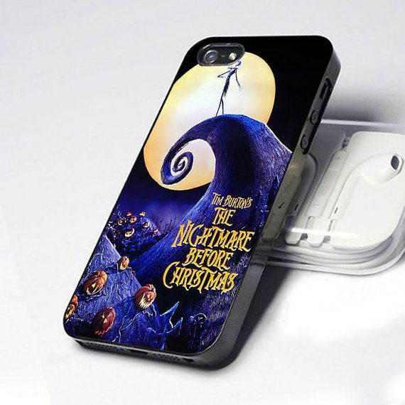 The Nightmare Before Christmas iPhone 5 4 4S Case on Etsy, $14.89
