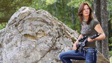a te wachter   30 cal gal women with guns  armed amp ready pint