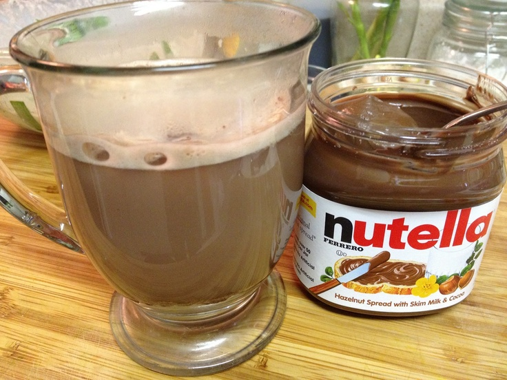 Hazelnut Hot Chocolate | Drinks | Pinterest