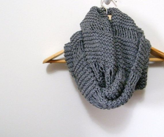 Alpaca Cowl Knitting Pattern : Oversized Cowl Infinity Scarf Knitting Pattern by ...