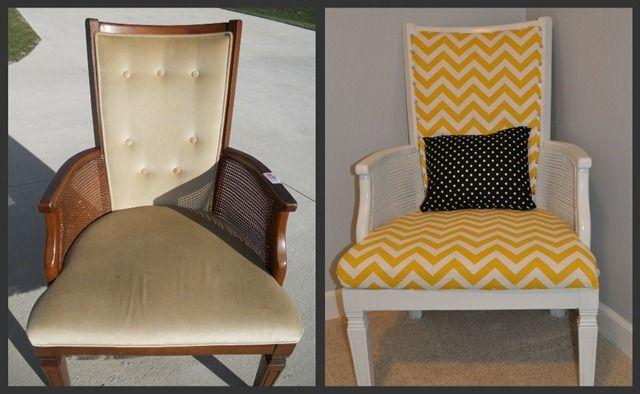 Reupholster Chair DIY Crafts Pinterest