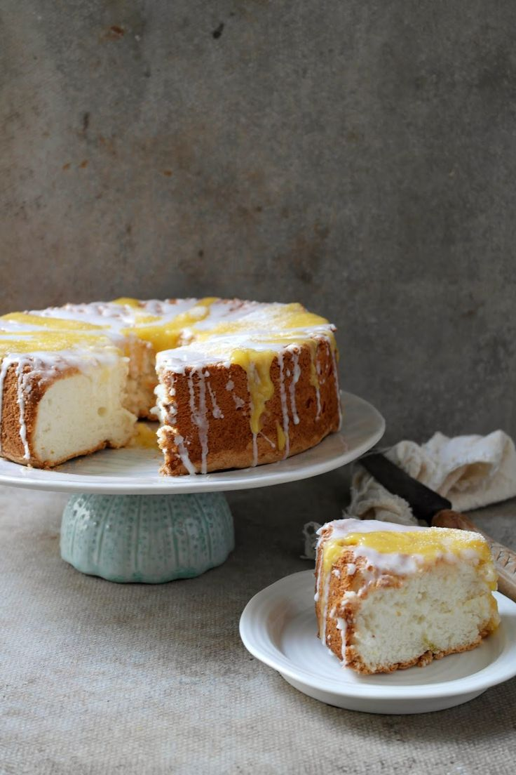 angel food cake with lemon lime and mango curd | i have to say its my ...