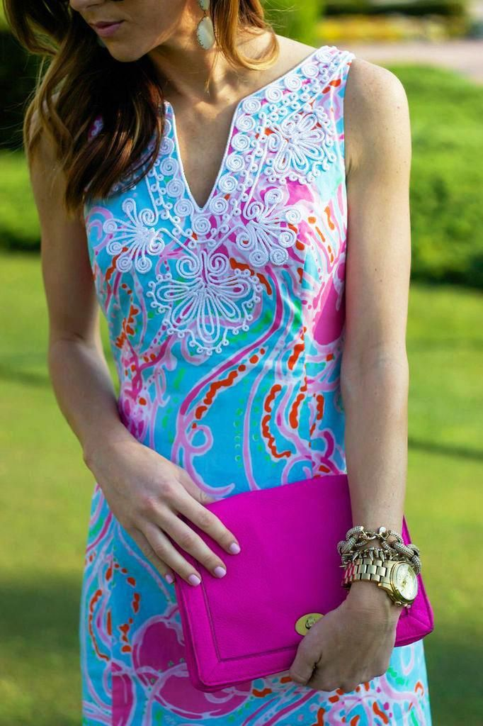 Lilly Pulitzer Gabby Shift Dress in Jellies Be Jammin worn by @Haley Shepherd | Sequins and Things