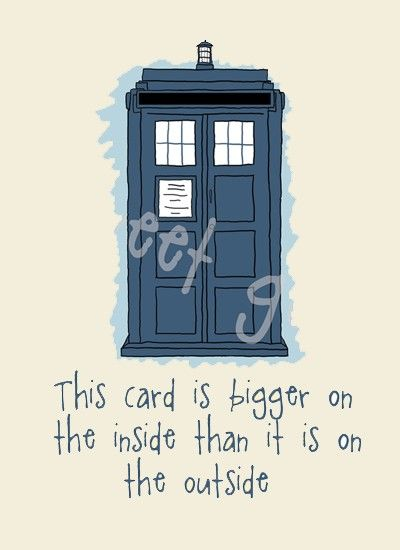 This Card Is Bigger On The Inside Doctor Who Card