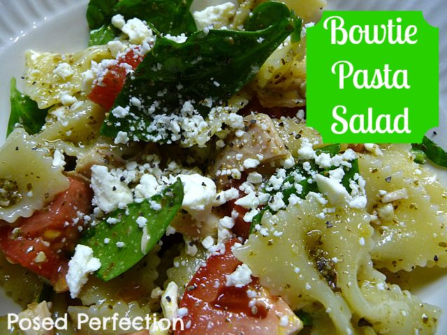 Posed Perfection: Bowtie Pasta Salad | SALAD | Pinterest