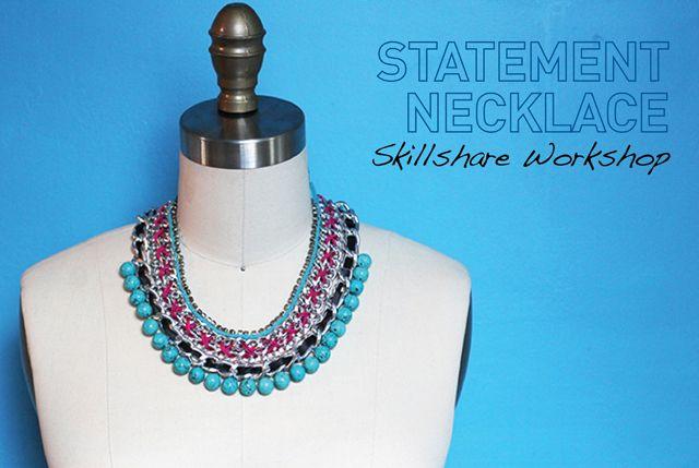 I Spy DIY: [DIY Workshop] Statement Necklace