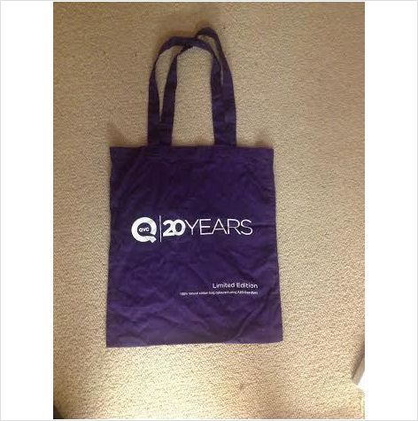 QVC Purple Cotton Limited Edition Canvas Bag 20 Years on eBid United ...
