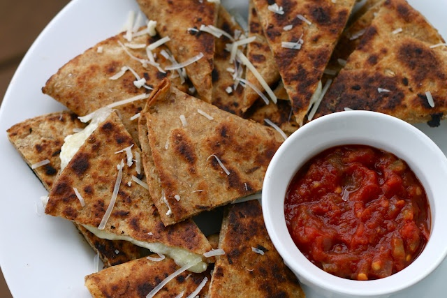 Cookbook Confessions: Three Cheese Quesadillas With Garlic Butter