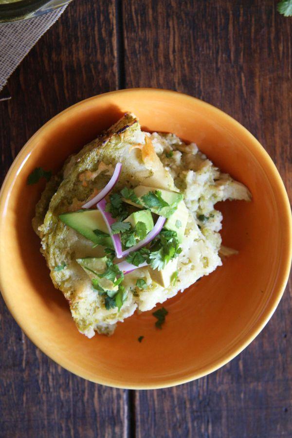 : Salsa Verde Chicken Enchilada Bake + How to Make Shredded Chicken ...
