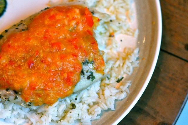 Baked Tilapia & Mango Salsa | Yummy..... | Pinterest