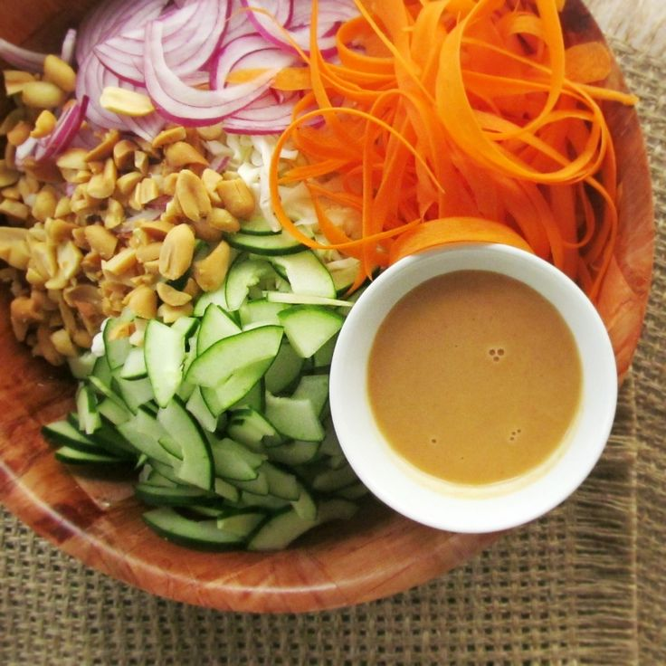 Spicy Peanut Cabbage Slaw. Sidenote from Lynnae: I've made this twice ...