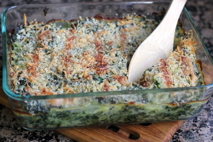 The Best Baked Spinach - A Hint of Honey | Get in my Belly: True Life ...