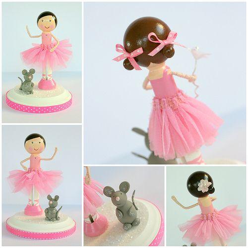 Clothespin ballerinas