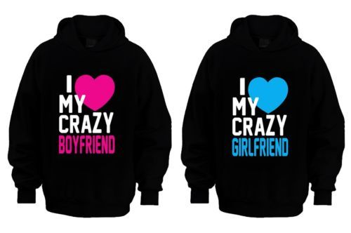 Love My Crazy Boyfriend Hoodies | Stay Fly Clothing