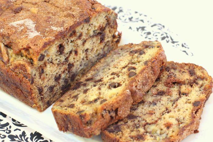 Cinnamon Swirl Banana Chocolate Bread | Recipe