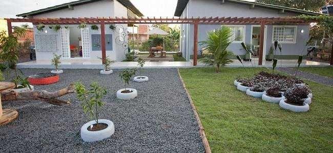Decoração de jardim com pneus  DECORAÇÃO DE JARDIM  Pinterest