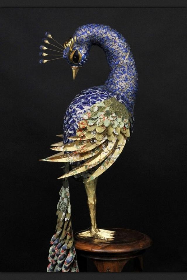 Peacock paper art - photo#24
