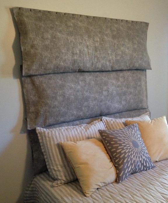 Body pillow headboard diy decorating pinterest for Headboard made pillows