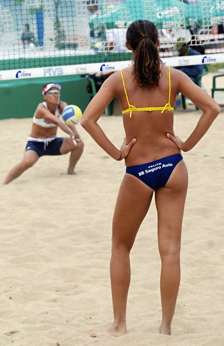 Beach volleyball women body