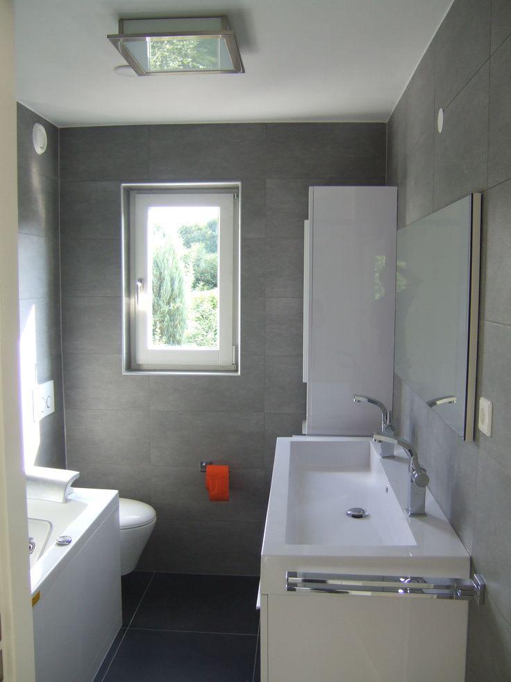 Ideeen Badkamer Muren ~ kleine badkamer  muren en vloeren  Badkamer  Pinterest
