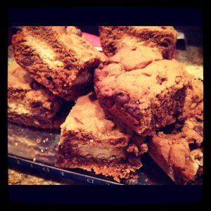Gingerbread oreo blondies | Sweet Life | Pinterest
