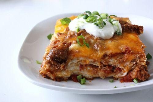 Mexican Lasagna | Recipes-Sweet Treats | Pinterest