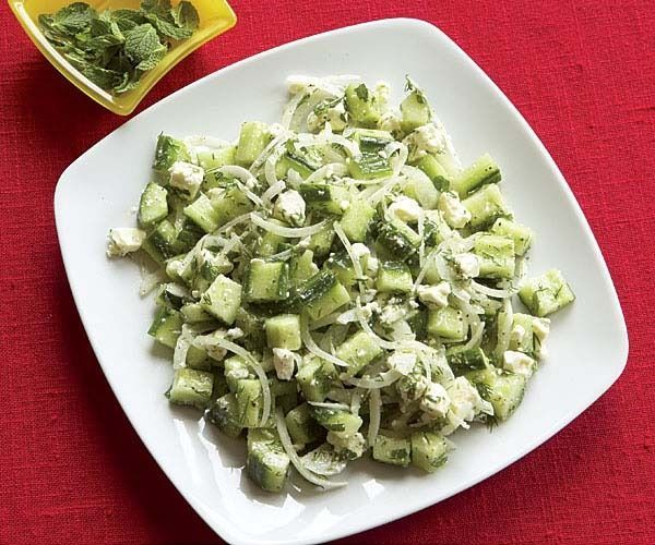 Cucumber & Feta Toss with Mint & Dill by Fine Cooking