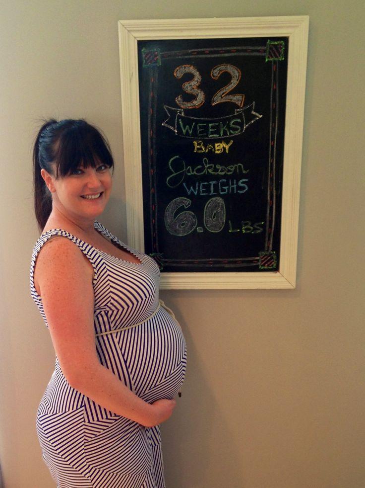 32 Weeks Pregnancy Chalkboard   My Pregnancy Chalkboard   Pinterest
