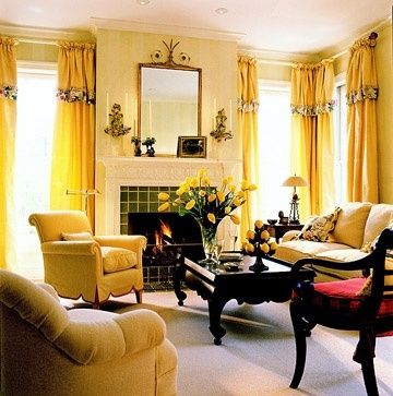 NEVER would have picked this bold of a yellow, but I just LOVE the look of this room.