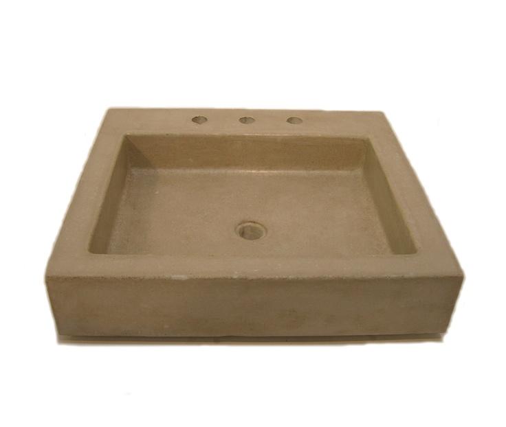 Bradley Sinks : BRADLEY HUGHES Stella Square Sink in Sandstone concrete.