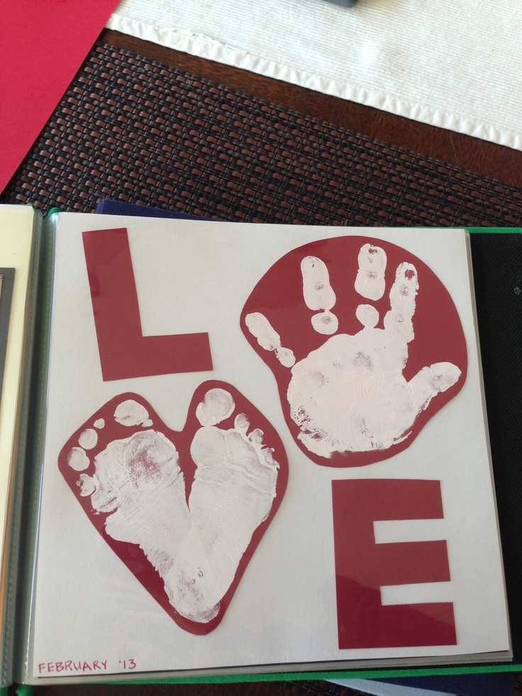 valentine heart handprint poem