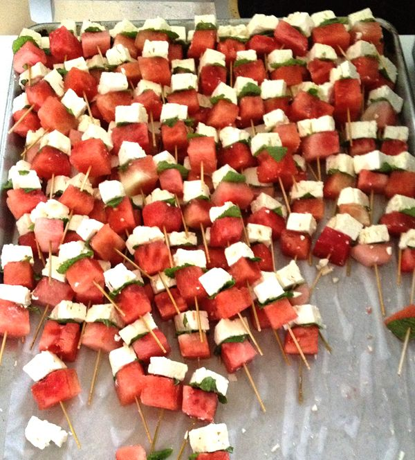 Watermelon feta skewers #HudsonValley #weddings #catering #take out # ...
