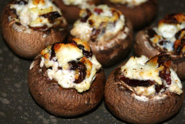 Goat Cheese & Cranberry Stuffed Mushrooms | Recipe