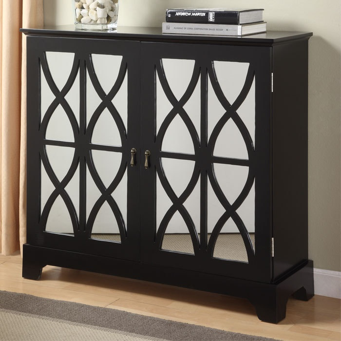 Powell Mirrored Furniture Powell Furniture Mirrored Console Cabinet - A Grand Entrance on Joss ...